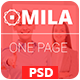 Mila - One Page PSD - ThemeForest Item for Sale