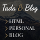 Tada & Blog - Personal Blog HTML Theme - ThemeForest Item for Sale