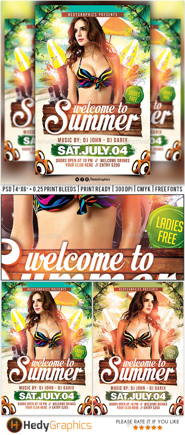 Welcome to Summer - Flyer Template
