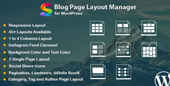 Blog Page Layout Manager for WordPress - CodeCanyon Item for Sale