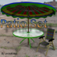 Patio Set fbx and object - 3DOcean Item for Sale