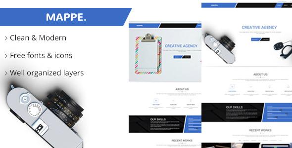 Mappe Portfolio PSD Template