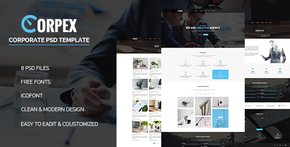 Corpex – Corporate PSD Template