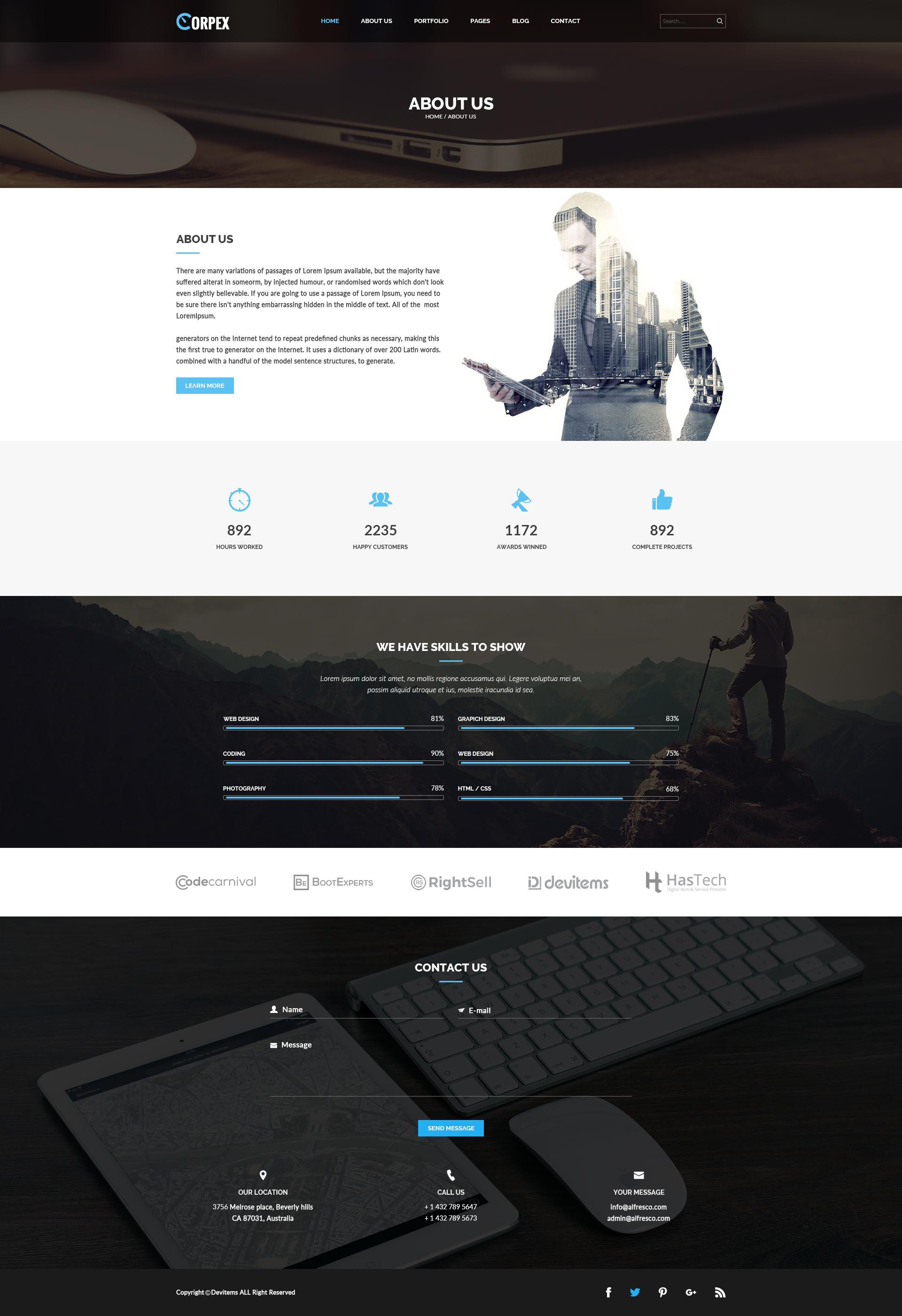 Corpex - Corporate PSD Template by Themes-Hub | ThemeForest