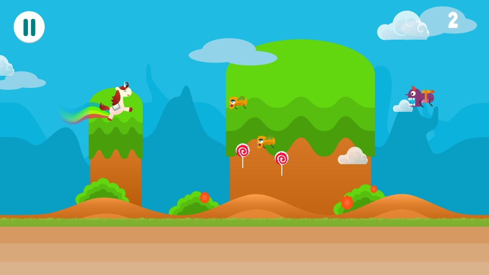 Bouncing Unicorn - HTML5 Game (Capx)