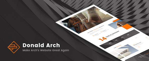 Donald Arch – Make Architecture PSD Great Again