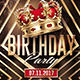 Gold Birthday | Kings Flyer Template - GraphicRiver Item for Sale