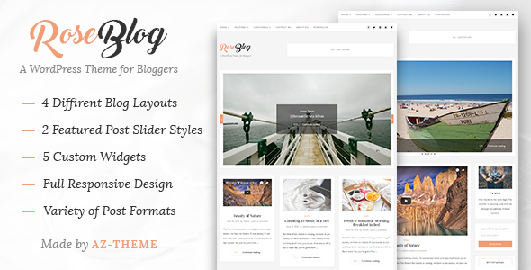 Rose – Elegant Blog and Portfolio WordPress Theme