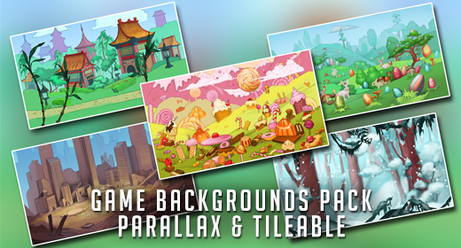 Game Backgrounds Parallax and Tileable Pack
