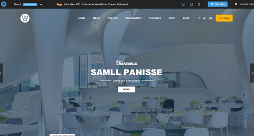 Responsive WordPress Theme Restaurant