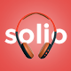 SOLIO - Music Brand Headset PSD Template - ThemeForest Item for Sale