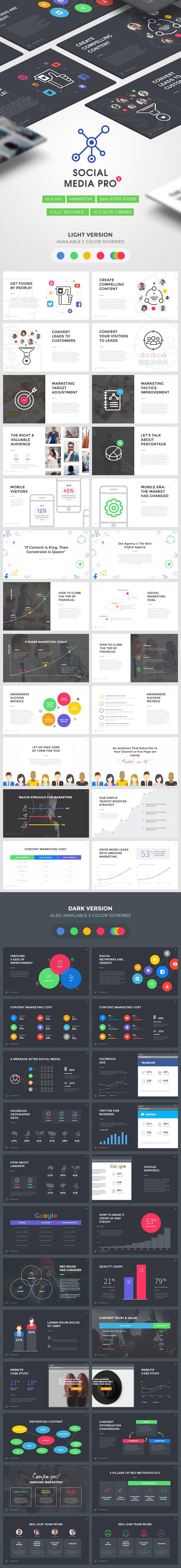 Social Media PRO 2 - Marketing Keynote Template - Keynote Templates Presentation Templates