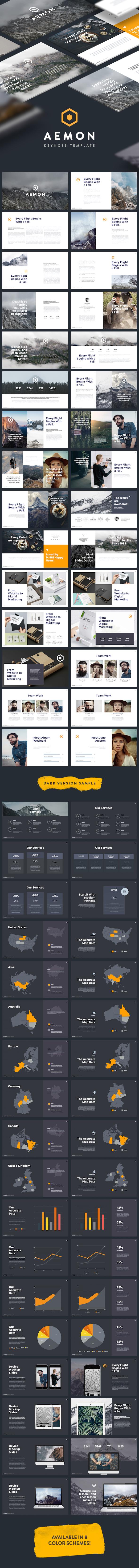 AEMON - Minimal & Creative Keynote Template - Keynote Templates Presentation Templates