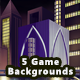 5 Platformer City Game Backgrounds - Parallax & Stackable - GraphicRiver Item for Sale