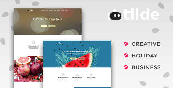 Tilde – Creative Multipurpose Landing Page - Landing Pages Marketing