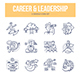 Career & Leadership Doodle Icons - GraphicRiver Item for Sale