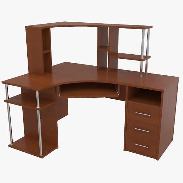 computer desk (2) - 3DOcean Item for Sale