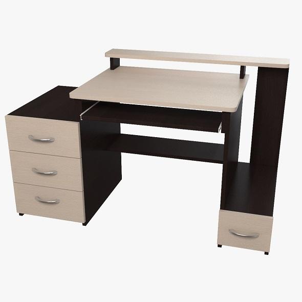 computer desk (3) - 3DOcean Item for Sale