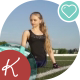 Young Female Athlete Doing Stretching And Sits On Twine - VideoHive Item for Sale