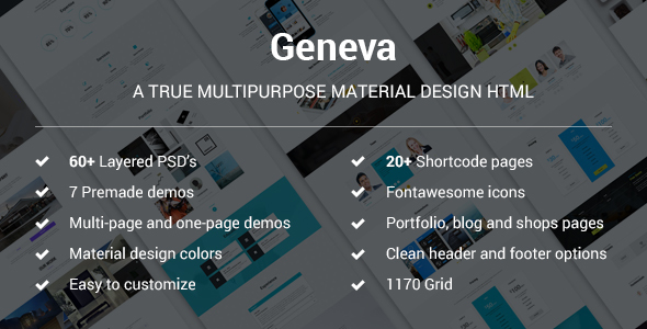 Geneva - A True Multipurpose Material HTML Template