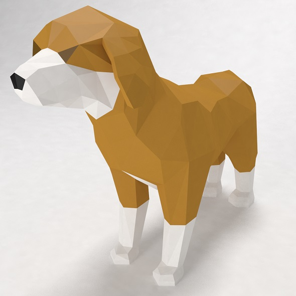 dog low poly style - 3DOcean Item for Sale