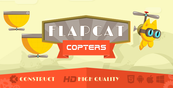 Game FlapCat Copters - CodeCanyon Item for Sale