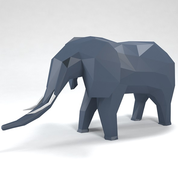 elephant low poly style - 3DOcean Item for Sale