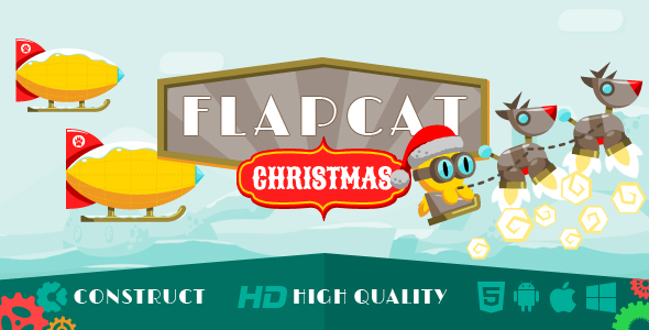 Game FlapCat Christmas - CodeCanyon Item for Sale