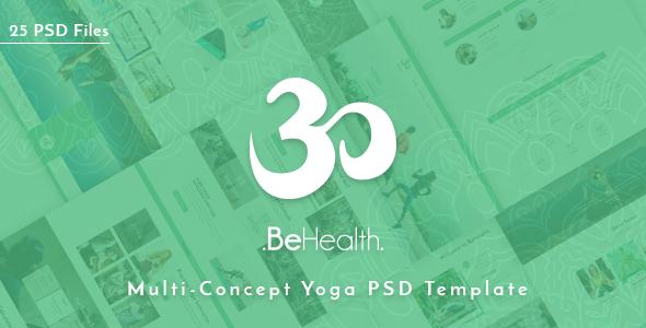 BeHealth - Yoga & Health Center PSD Template - Health & Beauty Retail