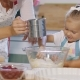 Cute Little Girl Helping Her Mother Bake a Tart - VideoHive Item for Sale