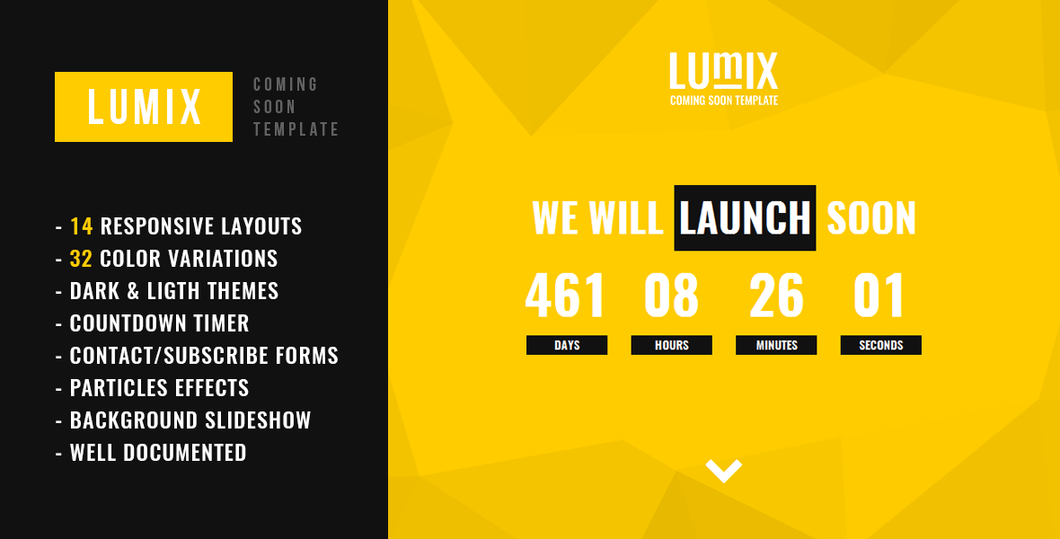Lumix Responsive Under Construction Template By Ostry Themeforest