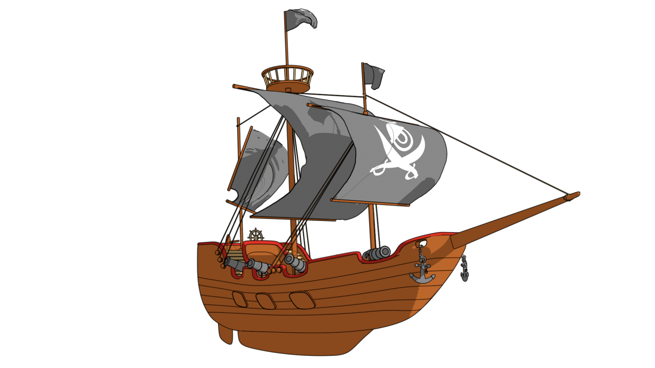 Cartoon Pirate Ship By Fullhpetrol 3docean Diagram With Labels Google Search Pirates Ships