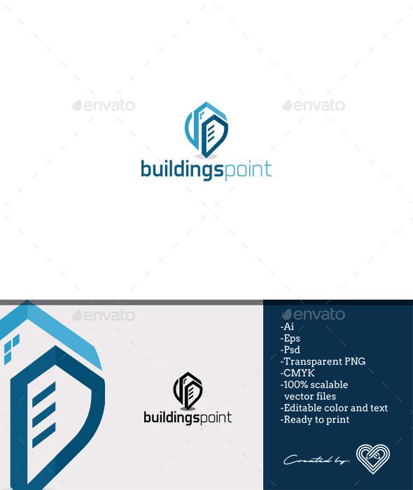 Buildings Point - Buildings Logo Templates
