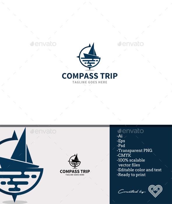 Compass Trip - Symbols Logo Templates