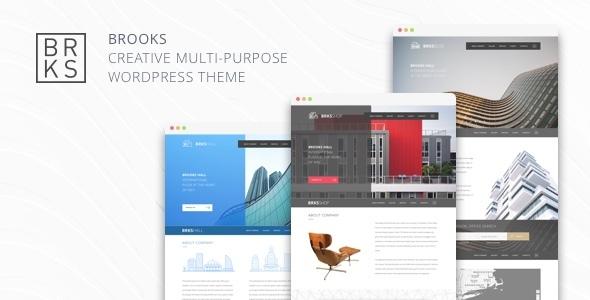 Brooks WP – Creative Multi-Purpose WordPress Theme