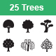 Trees vector icons - GraphicRiver Item for Sale