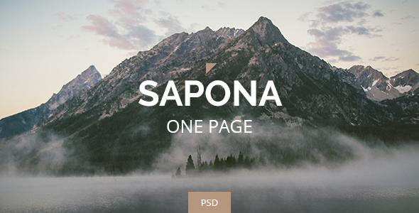 Sapona - One Page PSD  - Corporate PSD Templates