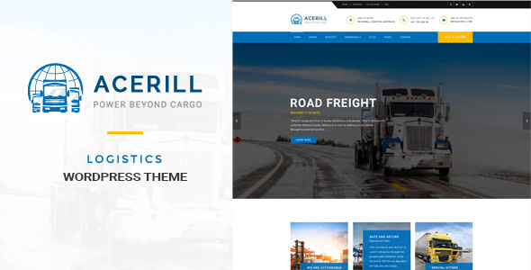 Acerill – Transport & Logistics WordPress Theme