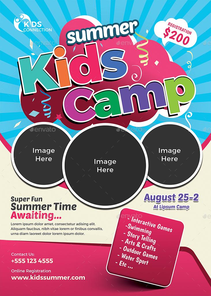 Kids Summer Camp Flyer By Jpixel55 Graphicriver