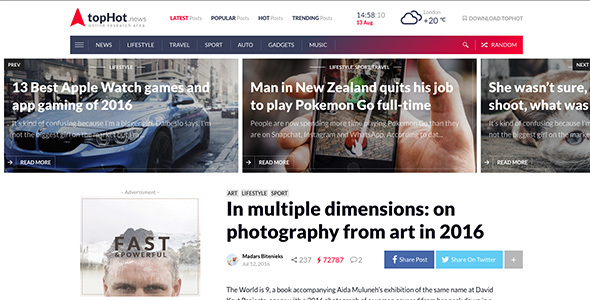 topHot - WordPress News / Magazine / Newspaper Theme