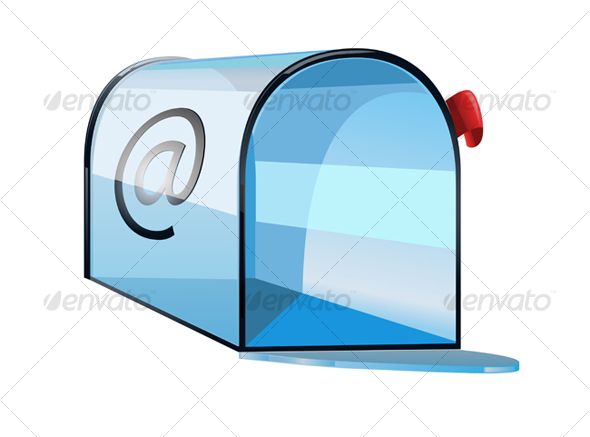 Glossy mailbox as a computer icon - Objects Vectors