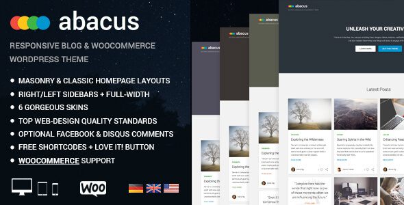 Abacus - Responsive Blog & Shop Theme