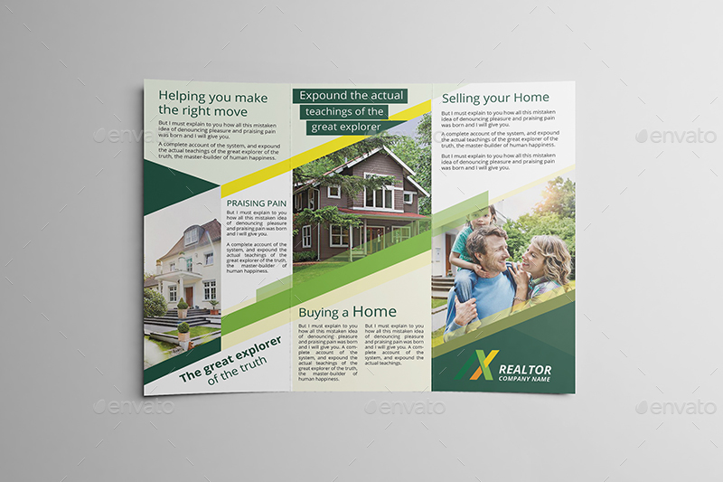 Realtor TriFold Brochure Template By Wutip  Graphicriver