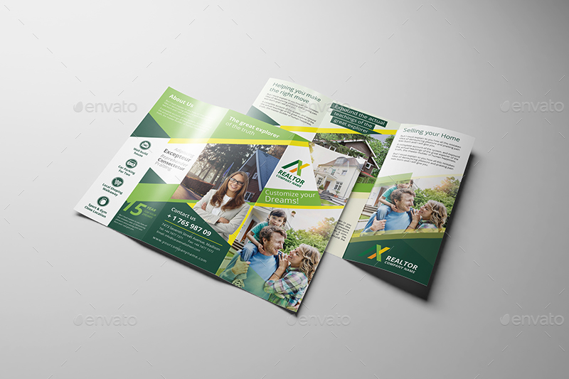 Realtor Trifold Brochure Template By Wutip GraphicRiver - Realtor brochure template