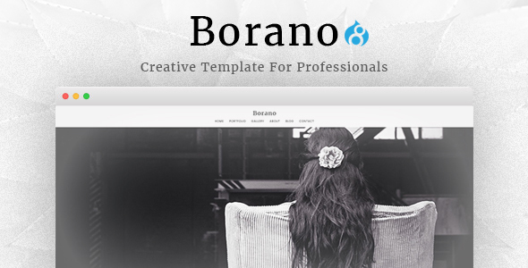 Image of Borano - Photography / Portfolio Drupal 8 Theme