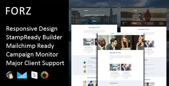 Image of Forz - Multipurpose Responsive Email Template + Stampready Builder