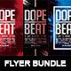 Dope Beat Bundle | Premium Urban Futuristic Flyer PSD Template - GraphicRiver Item for Sale
