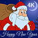 New Year Animated Card With Santa Claus 4K - VideoHive Item for Sale