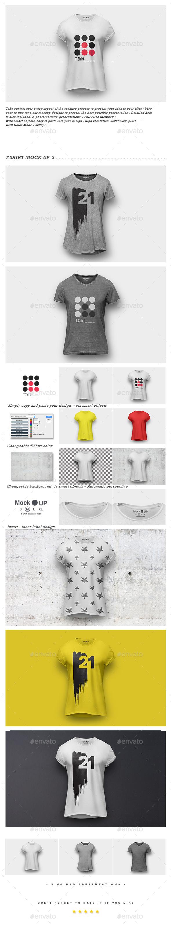T-Shirt Mock-up 2