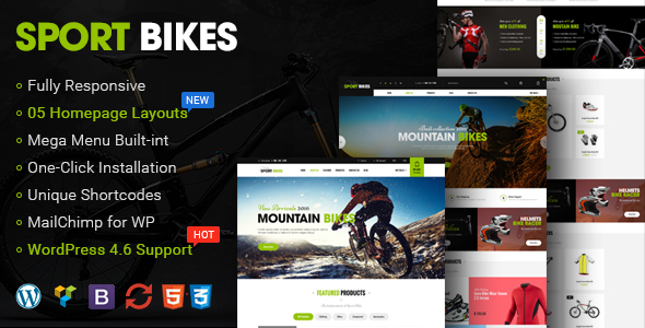 Sportbikes – Responsive WooCommerce WordPress Theme